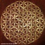 Canvas 50 cm x 50 cm Acrylic paint Gold leaf