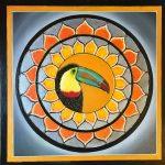 Canvas 50 cm x 50 cm Acrylic paint Rhinestones