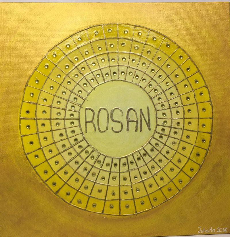 personalized mandala, gift, yellow, Rosan, appreciation
