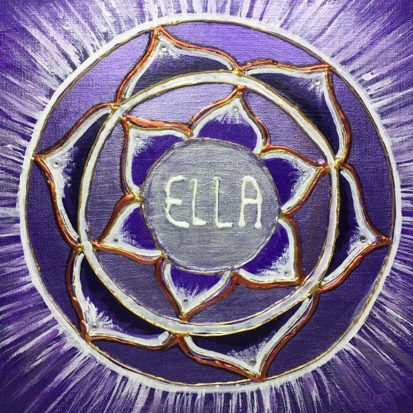 Ellen, personalised mandala, gift, appreciation, teacher, purple, IKEC