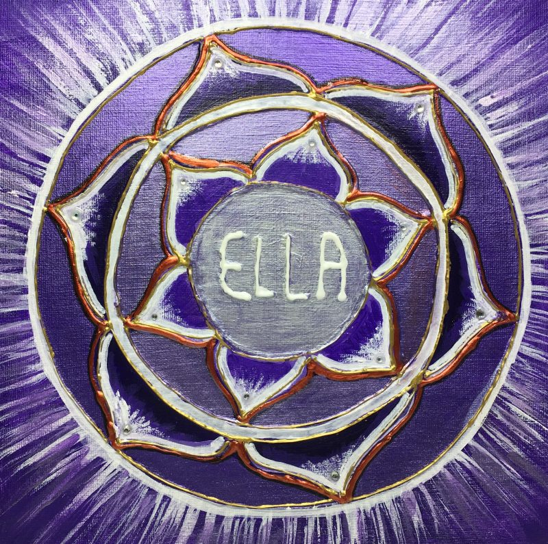 Ellen, personalised mandala, gift, appreciation, teacher, purple, IKEC