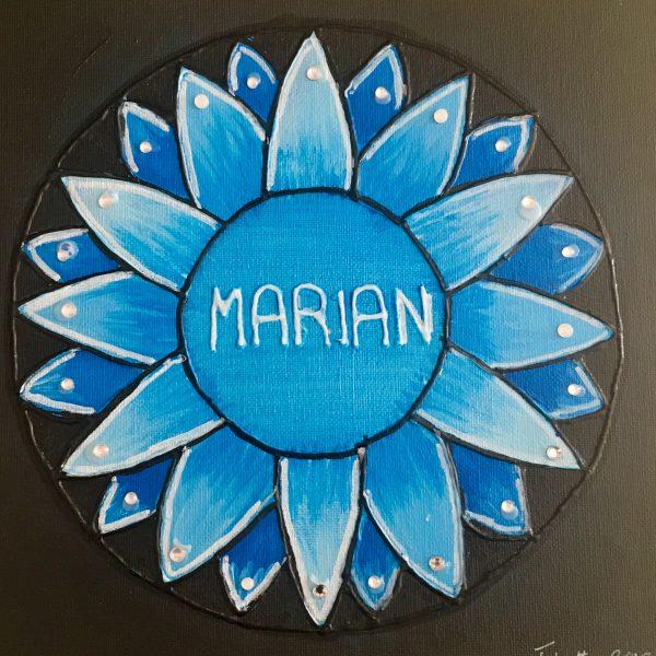 Marian, personalized gift, mandala